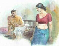 Art: Perfect Portrait of a Sexy Indian Maid with Perky Breasts and a Nice Midriff Sexy Painting, Black Art Painting, Woman Painting, Indian Women Painting, Indian Art Paintings, Indian Artwork, Indian Drawing, India Art, Pictures To Draw
