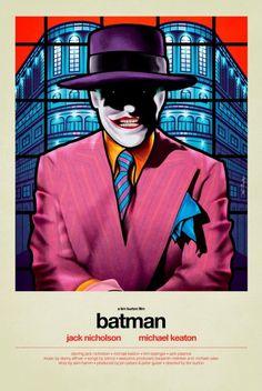 "Batman (Tim Burton, 1989) - ""stained glass"" poster design by Van Orton"