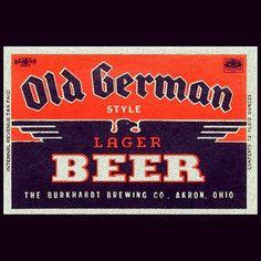 Old German style lager beer label. #typehunter #typehunting #badgehunting #vintagelabel #breweriana