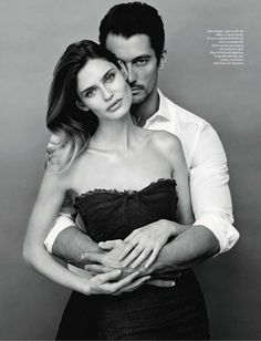 Models: Bianca Balti, David Gandy; Hair: Gabriele Trezzi; Makeup: Andrea Costa; Photographer: Giovanni Gastel.