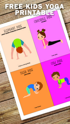 Yoga For Preschool Age Kids Yoga Poses, Yoga For Kids, Exercise For Kids, Kid Poses, Preschool Yoga, Preschool Classroom, Kindergarten, Gross Motor Activities, Toddler Activities