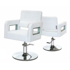 white modern barber chairs / hairdressing salon chair / hair styling hydraulic chair  http://www.gobeautysalon.com/product/product-21-551.html