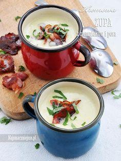Zupa krem z zmieniaków Soup Recipes, Diet Recipes, Polish Recipes, Polish Food, Slow Food, Fruit Smoothies, Food Photography, Food Porn, Food And Drink