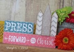 Press forward in Christ.  LDS youth theme 2016.  Temple craft kit.  Perfect for a mutual activity or Super Saturday
