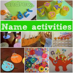 Great ideas on learning about their name using playbased activities -  The ABC's of Toddler Activities {K through O}