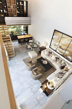 aménagement de salon confort-canapé-angle