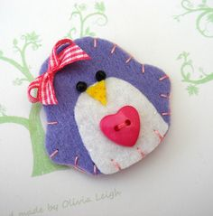 felt penguin hair clip for my penguin loving daughter