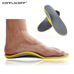KOTLIKOFF Foam+TPR Arch Support Breathable Shock Absorption Cushion Sport Orthopedic Insoles for Shoes Woman Men