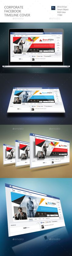Corporate Facebook Timeline Cover Template PSD. Download here: http://graphicriver.net/item/corporate-facebook-timeline-cover/16399540?ref=ksioks