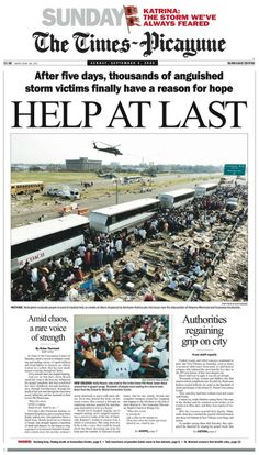Katrina front pages