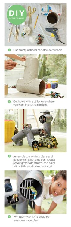 Throwing a Turtles birthday party? Build a DIY tunnel play structure that will make all the kids flip! Click to shop for all your Turtles party gear at Target.