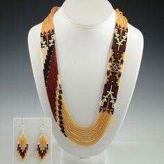 Navajo beaded necklace by Rena Charles, Flagstaff Indian Jewelry, Flagstaff Native American, Sedona Indian Jewelry