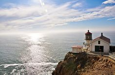 Point Reyes Lighthouse and Cowgirl Creamery, technically in Marin County, this 1870 Point Reyes Lighthouse has been decommissioned