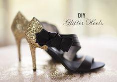 DIY Glitter Wedding Shoes