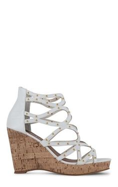 Deb Shops Cork Wedge Sandal with Strappy Upper $25.83