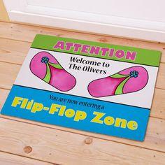 Personalized Flip Flop Zone Doormat