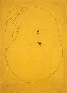 palmofmyhands:    Lucio Fontana Concetto spaziale, 1961 oil on canvas