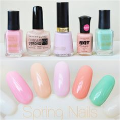 Spring pastels nail colours