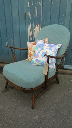 Ercol 203 Easy Chair Reupholstered in Donegal Tweed by EraBrighton