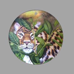 HAND PAINTED TIGER NATURAL MOTHER OF PEARL SHELL NECKLACE PENDANT ZP30 00583 #ZL #PENDANT