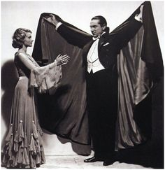 """"""" Helen Chandler and Bela Lugosi in a publicity photo for """"Dracula"""" (1931) """""""