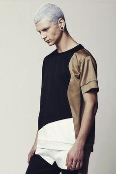 SALE Mens Shirt Mens Color Block Shirt Mens by EliranNargassi