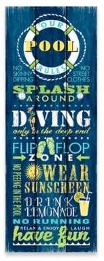 """""""Our Pool Rules"""" Canvas Wall Art #ad #pool #poolrules #outdoor #outdoordecor"""