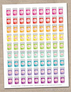 Pill Bottle Printable Planner Stickers Instant Download PDF Refill and Pick Up Meds