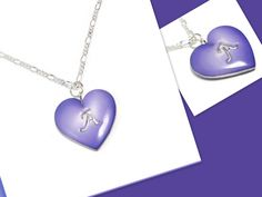 Heart Initial Necklace- polymer clay Jewelry- Initial Pendant- Heart Pendant- Statement Necklace - pinned by pin4etsy.com