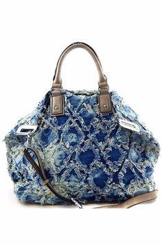Soko Denim Bag ( BLACK OR BLUE) Denim - Faux -Leather / Gold tone hardware Interior: Zipper pocket & 2 slip pockets Optional adjustable shoulder strap