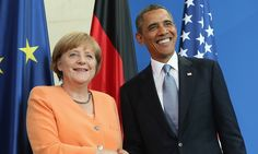 Claims awkward for chancellor Angela Merkel who had told US spying on friends was not on after NSA bugging accusations Barack And Michelle, Conservative News, Barack Obama, Awkward, Spy, Presidents, Germany, Take That, Leather Jacket