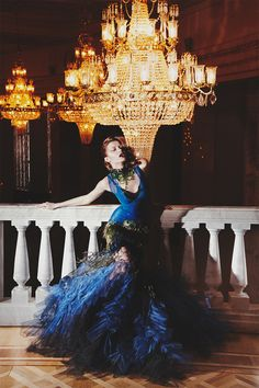 """""""Bolshoy Opera"""" Photographer Jean Baptiste Fort This dress has so much drama, I don't even have to open my mouth. Celebrity Photography, Fashion Photography, Opera Dress, Peacock Dress, Mademoiselle, Party Fashion, High Fashion, Women's Fashion, Fashion Design"""