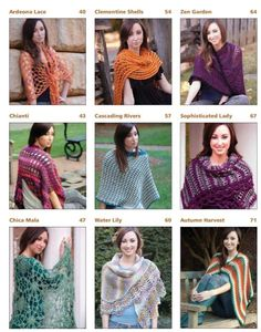 Some fo the #crochet wraps in the new book by @Tammy Hildebrand