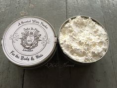 This lovely scented powder is made from an original 18th century recipe. Description from etsy.com. I searched for this on bing.com/images