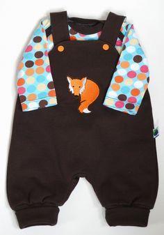 angorafrosch: baby onesie with overall - pattern: strampelhose klimperklein…