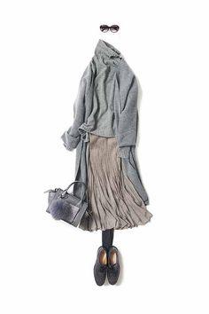 Daily Fashion, Everyday Fashion, Fashion Pics, Office Dresses For Women, Mori Fashion, Fashion Stylist, Japanese Fashion, Stylish Outfits, Autumn Winter Fashion
