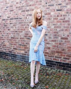 BABY BLUES IN JARLO ~ Little sneak peak from the latest collaboration with stunning @hollyrebeccawhite, who featured our JULIET dress in blue! Please check the full blog post now on www.hollylovesthesimplethings.co.uk ✨! #ootd #lookoftheday #fblogger