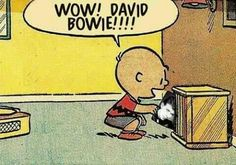 David Bowie- Charlie Brown likes David Bowie's music too :) You're a Starman ,Charlie Brown.