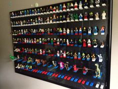 DIY Lego Minifigure Storage / Display Lego Minifigure Display, Lego Display, Home Projects, Craft Projects, Lego Room, Lego Storage, Try To Remember, Lego Creations, Legos