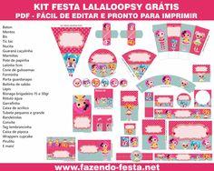 Lalaloopsy free printable- complete kit DESTAQUE LALALOOPSY