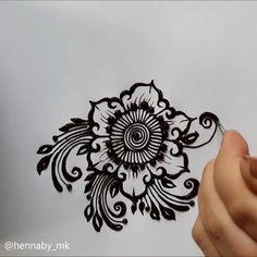Learn flower 🌺 Learn flower 🌺 ,Zeichnen Henna by my Related posts:Katzenkopf im Zierbezug Stock-Vektorgrafik (Lizenzfrei) 1105387394 - Henna designs handNew and Trendy Bridal Mehndi designs that will rule hearts! Mehndi Design Photos, Unique Mehndi Designs, Latest Mehndi Designs, Henna Tattoo Designs, Hand Designs, Henna Tattoo Hand, Henna Tattoos, Henna Tutorial, Mehndi Designs For Beginners