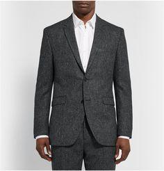Acne StudiosGrey Aron Slim-Fit Wool-Tweed Suit Jacket
