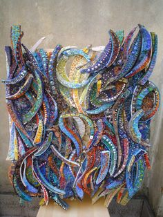 Another beautiful mosaics by Giulio Menossi. Fused Glass Art, Mosaic Glass, Mosaic Tiles, Tiling, Mosaic Crafts, Mosaic Projects, Stained Glass Patterns, Mosaic Patterns, Mosaic Artwork