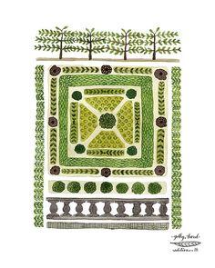 Knot Garden No. 3 Print giclee art print spring by GollyBard