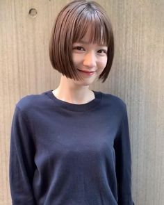 Short Hair Styles Easy, Short Hair Cuts, Medium Hair Styles, Short Grunge Hair, Edgy Hair, Short Bob Hairstyles, Korean Short Hairstyle, Korean Short Hair Bob, Japanese Short Hair