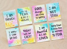 DIY: Watercolor Affirmation Cards #tutorial