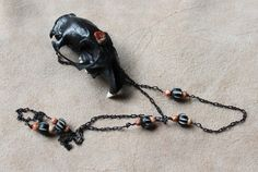 Prairie Dog Skull Necklace by Lupa. At http://thegreenwolf.etsy.com
