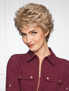 Fun & Funky Fashionable Curly Wigs: Human Hair, Synthetic or Heat Defiant Fibers Short Hair Wigs, Curly Wigs, Human Hair Wigs, Feathered Hairstyles, Bride Hairstyles, Wig Hairstyles, Wig Styles, Short Hair Styles, Pixie Styles