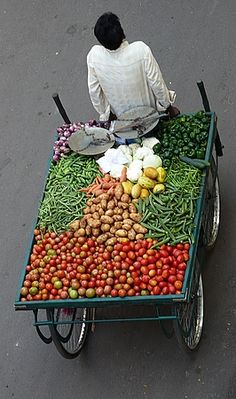 Vegetable market on wheels
