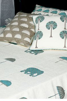 Goodearth - Mysore Hand Block Pique Bed Cover